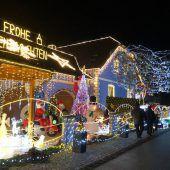 150.000 Lichter am Weihnachtshaus