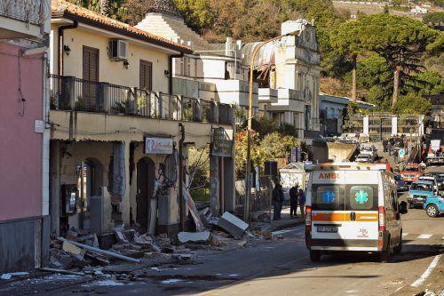 Dem Zivilschutz wurden 1600 Wohnungen mit Erdbebenschäden gemeldet. AFP
