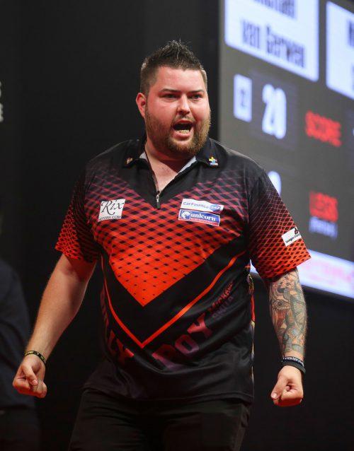 Der 28-jährige Michael Smith erreichte als erster Spieler das Finale der Darts-WM.gepa