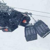 Spektakulärer Gondel-Crash im Zillertal
