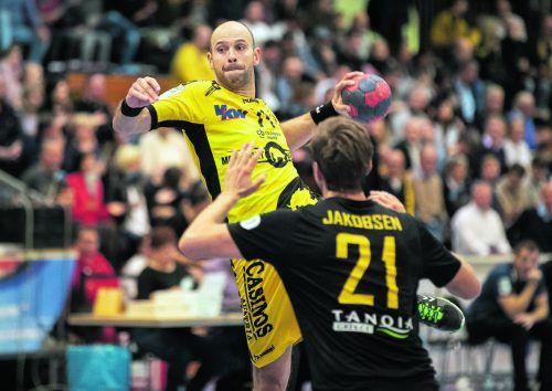 Der Einsatz von Bregenz-Goalgetter und Routinier Vlatko Mitkov ist wegen einer Schulterverletzung fraglich.VN/Sams