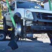Nach Alko-Unfall mit Lieferwagen zu Fuß geflüchtet