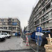 Über Großbaustelle in Feldkircher Zentrum