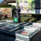 Abfallcontainer unter der Erde
