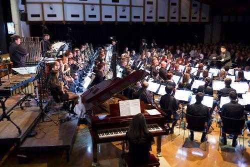 Die Bürgermusik Lauterach unter dem Dirigent Mathias Schmidt leistet auch bei der Motivierung von Jungmusikern Hervorragendes.günther schmidt