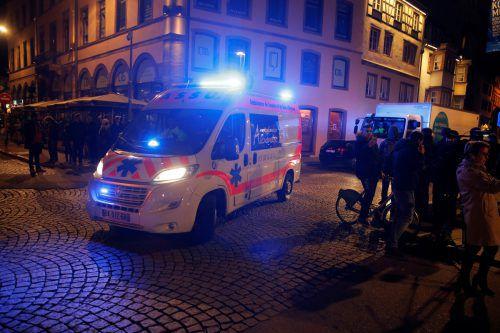 Die Innenstadt wurde nach der Schießerei abgeriegelt.Apa
