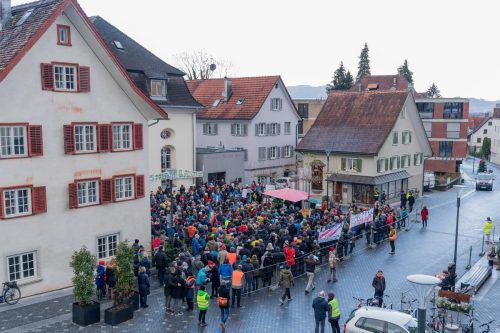 Die Landespolitik wurde auf die Demo nach Hohenems eingeladen. VN/Stiplovsek