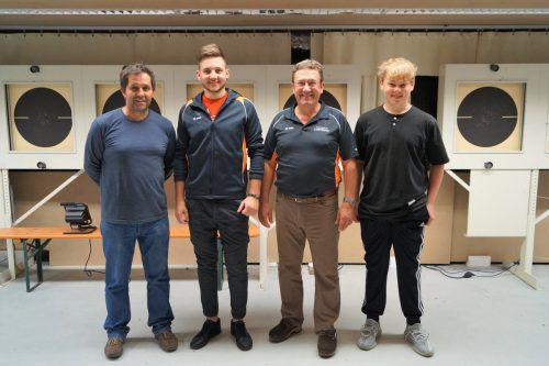 Die SG Lustenau (v. l.): Wolfgang Psenner, Marvin Greppmair, Walter Hagen und Simon Pircher. Verband