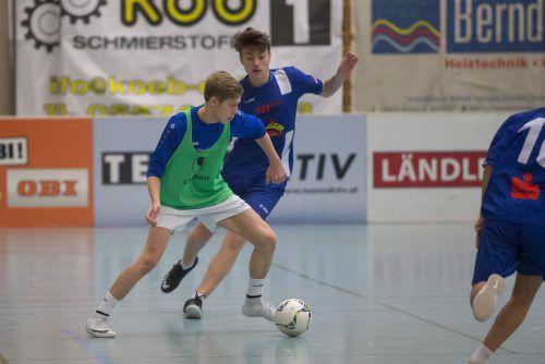 Die SPG Brederis/Meiningen Juniors (grün) sind neben RW Rankweil die Einzigen in der Entscheidung, die bereits seit Beginn des Masters im Einsatz sind.Steurer