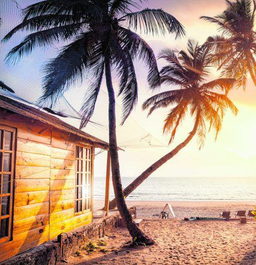 Die Strände von Goa mit ihren Palmen und dem feinen Sand sind wunderschön und locken viele Touristen an. shutterstock