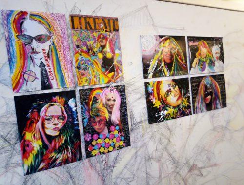 Die Werke von Bettina Bohne alias Lady Rainbow sind noch bis 20. Jänner zu sehen.