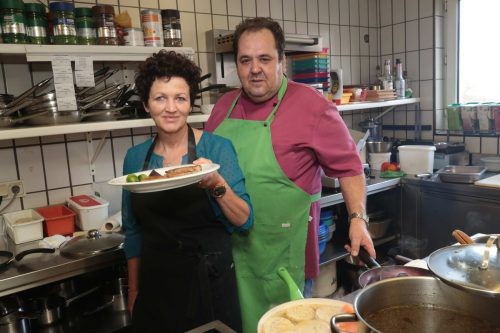 Die Wirtsleute Edith und Tobias Müller waren um das Wohl der Gäste bemüht.