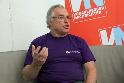 Dietmar Geiger bläst noch einmal zum Angriff auf den Landtag. VN