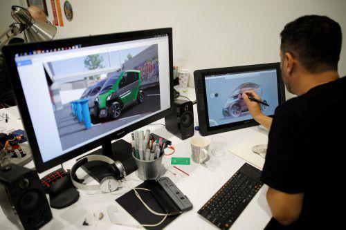 Ein Faltauto des israelischen Start-ups City Transformer soll Städtern künftig das Leben erleichtern. Reuters