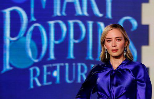 Emily Blunt begeistert in der Rolle der Mary Poppins. Reuters