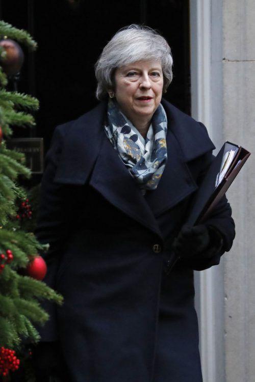 Es bleibt unklar, wie May ihren Deal durch das Parlament bringen will. AFP