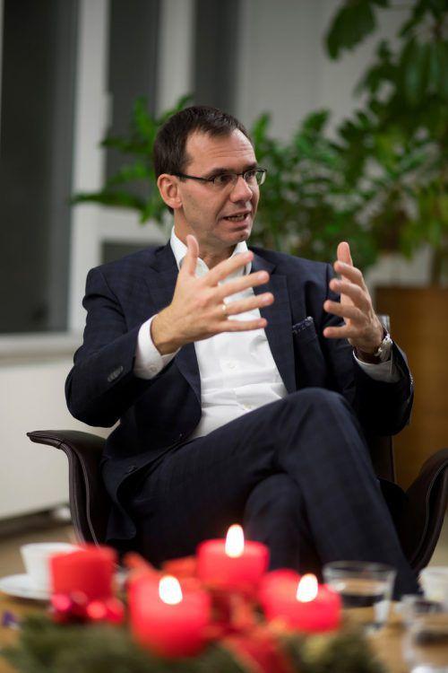 """""""Es ist eines Innenministers nicht würdig, gegen einen Landeshauptmann dumme Postings abzusetzen"""": Markus Wallner im VN-Interview.VN/Paulitsch"""