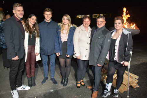 Familie Wegrzyn: Matthias mit Annabell, Thomas, Barbara, Petra und Markus Wegrzyn und Tochter Yolanda Geuze. afp
