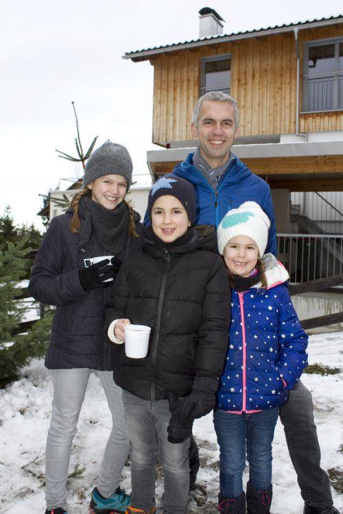 Familiensache: Herbert Kaufmann mit Lina (l.), Pius und Rosa.