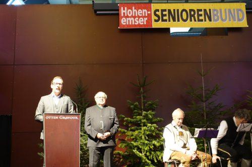 Feststimmung in der Otten Gravour, Seniorenbund Obm. Werner Gächter und Bgm. LAbg. Dieter Egger sb hohenems