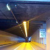 Mit Section Control gegen täglich rund 20 Überholmanöver im Arlbergtunnel. B1