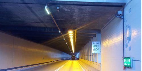 Auch im Arlbergtunnel gibt es eine Section-Control-Anlage. asfinag