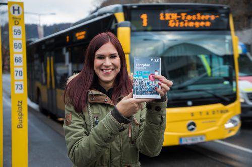 Die Öffis erfreuen sich steigender Beliebtheit. Auch 2018 wurden wieder mehr Karten für Bus und Bahn verkauft.VN/STEURER
