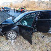 Fünf Verletzte bei Unfall auf A 14. B1