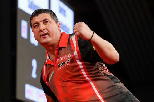 Für Mensur Suljovic gibt es bei der aktuellen Darts-WM nichts mehr zu jubeln.gepa