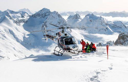 Heliskiing am Arlberg stößt bei den Grünen auf strikte Ablehnung. VN