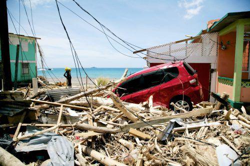 Im September wütete Hurricane Maria über dem Karibik-Inselstaat Dominica. afp