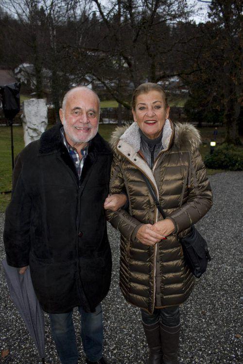 In Weihnachtsstimmung: Norbert und Andrea Steurer.