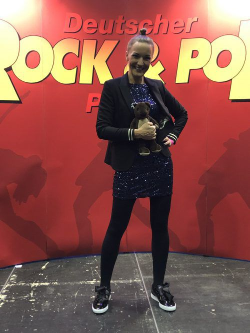 Ingrid Hofer im Moment ihres größten Erfolgs: In Siegen gewann sie den deutschen Rock&Pop-Preis.Hofer