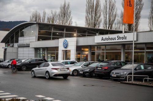 Das Autohaus Strolz in der Bregenzer Rheinstraße.VN/Paulitsch
