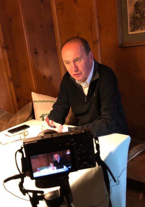Karas besuchte den Mediengipfel in Lech.Werner Müllner