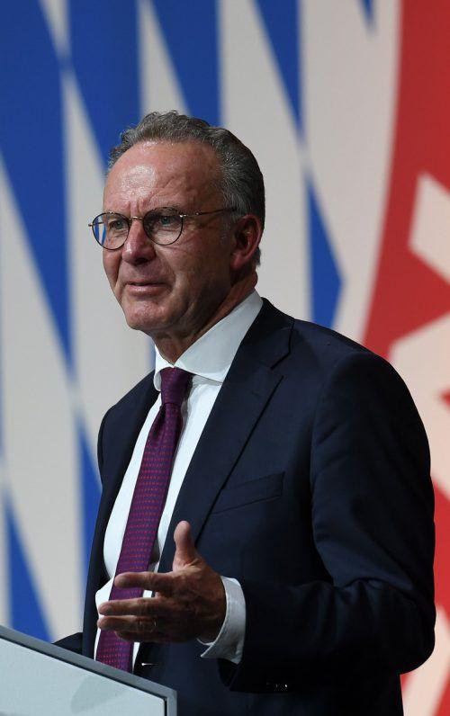 Karl-Heinz Rummenigge ist seit 2002 Vorstandschef des FC Bayern München.AFP