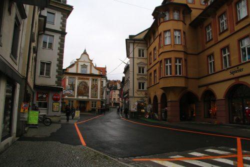 Kirch- und Römerstraße: die Bauarbeiten sind derzeit in der Weihnachtspause. Am 21. Jänner soll es dann weitergehen.