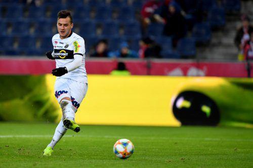 Kristijan Dobras war vor allem nach Seitenwechsel von Salzburg kaum zu halten, beim Abschluss aber hatte Altachs Offensivspieler auch ein wenig Pech.gepa