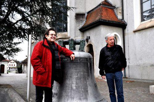 Kurt Sternik und Bruno Oberhammer gestalten am 31. Dezember ab 22.22 Uhr Silvester Anderswie in der Pfarrkirche Höchst. ajk