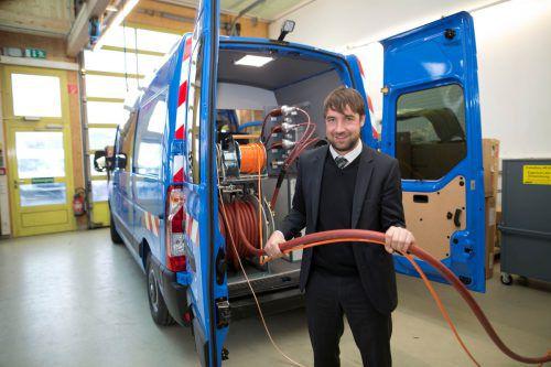 Markus Baur führt die Geschäfte beim Spezialisten für Prüf- und Messtechnikgeräte für elektrische Energieverteilsysteme. VN