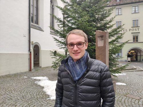 Mathias Bitsche ist mit 29 Jahren der jüngste Priester in Vorarlberg. VN/Haller