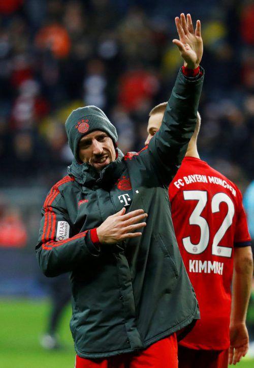 Mit Ausrufezeichen: Franck Ribéry bewarb sich um eine Verlängerung.Reuters