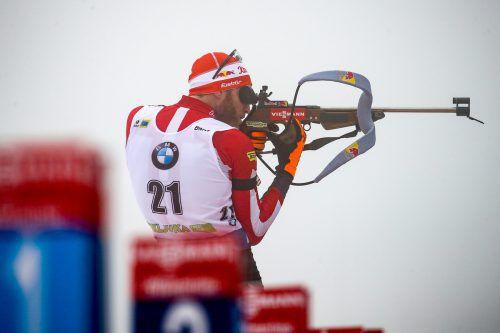 Mit Präzision aufs Stockerl. Simon Eder blieb am Schießstand ohne Fehl und Makel, 20 Volltreffer waren die Grundlage für den dritten Platz.gepa