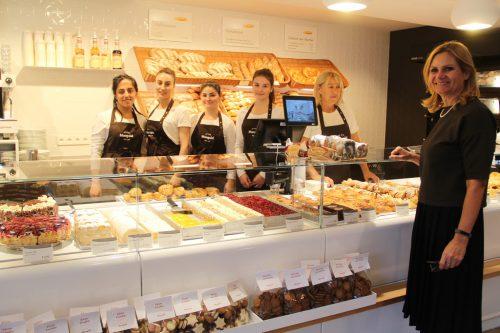 Monika Haag und ihr Team der Bäckerei Mangold in Schruns.STR