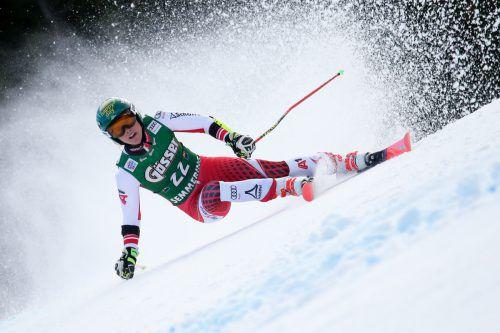 Nach dem 13. Rang träumt die Göfnerin Katharina Liensberger im Slalom von Semmering von ihrem ersten Podestrang im Weltcup.GEPA