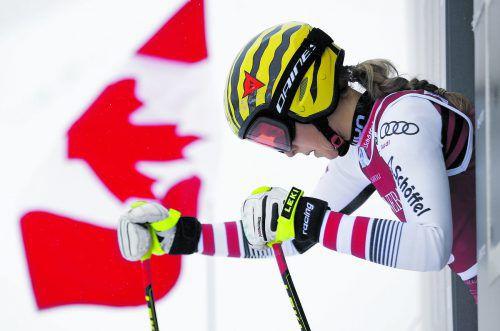 Nina Ortlieb verletzte sich nur leicht, steht morgen wieder auf den Skiern.gepa
