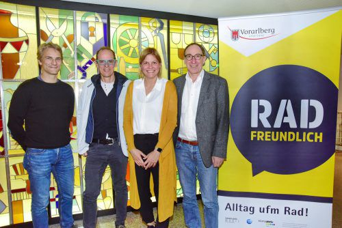 Radhändler trafen sich in Dornbirn mit LR Johannes Rauch (rechts).vlk