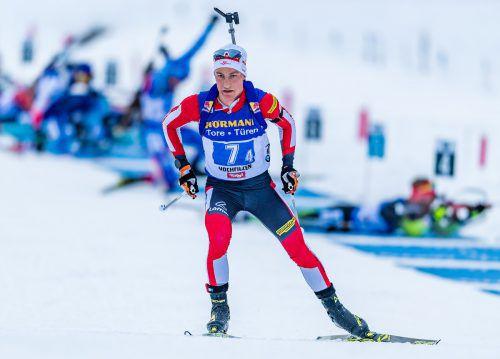 Schlussläufer Felix Leitner überquerte als Vierter die Ziellinie.APA