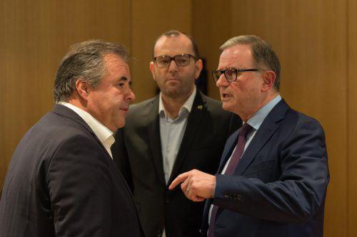 SCRA-Präsident Karlheinz Kopf (r.) mit dem Aufsichtsratsvorsitzenden Peter Pfanner (l.) und Christoph Längle.VN-Stiplovsek