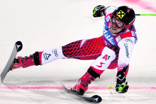 Sechs Läufe, sechs Siege. Marcel Hirscher hatte beim Parallel-Riesentorlauf in Alta Badia die Konkurrenz im Griff. apa